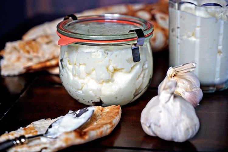 toum lebanese garlic sauce2 - Freezing Garlic