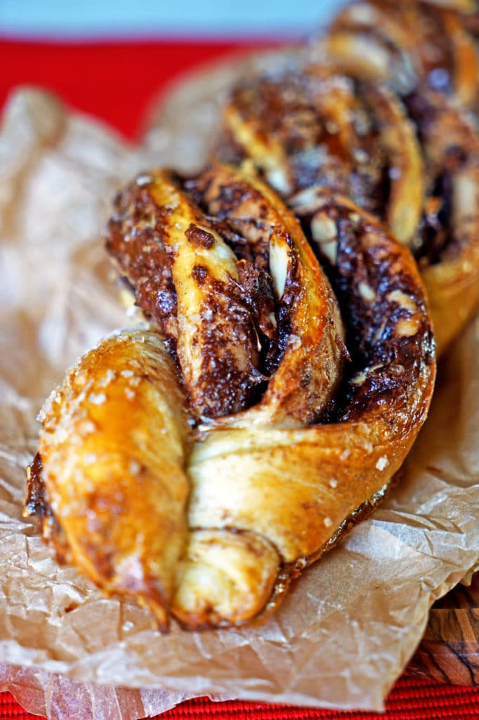 Twisted Almond and Nutella Bread Loaf1