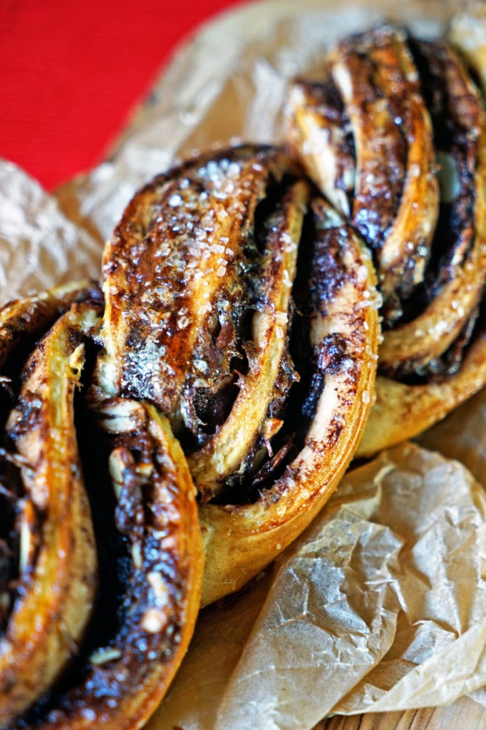 Twisted Almond and Nutella Bread Loaf8