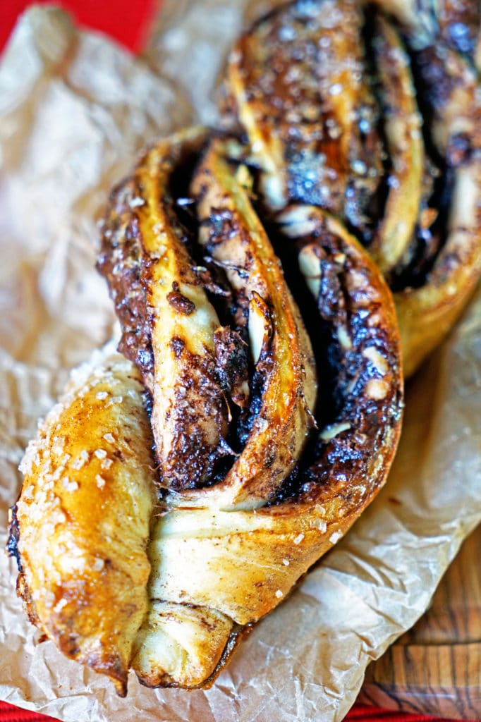 Twisted Almond and Nutella Bread Loaf9
