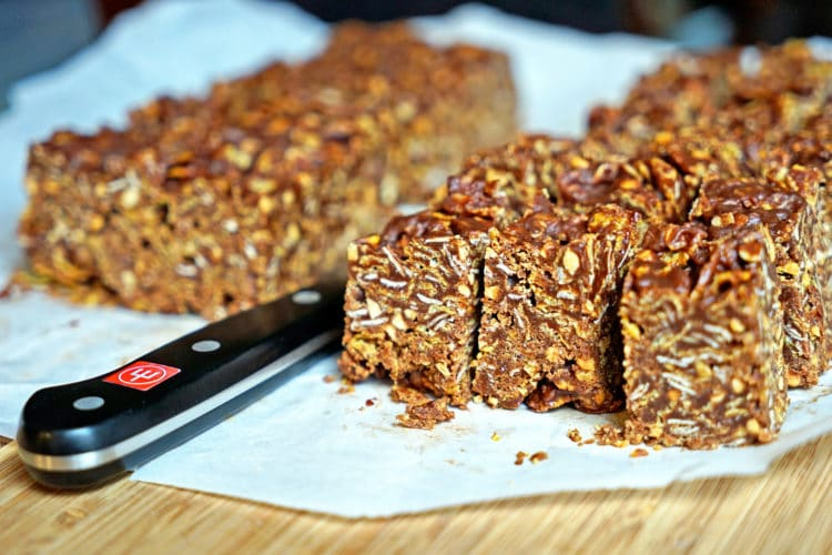 No Bake Chocolate Peanut Butter Crunch Bars2