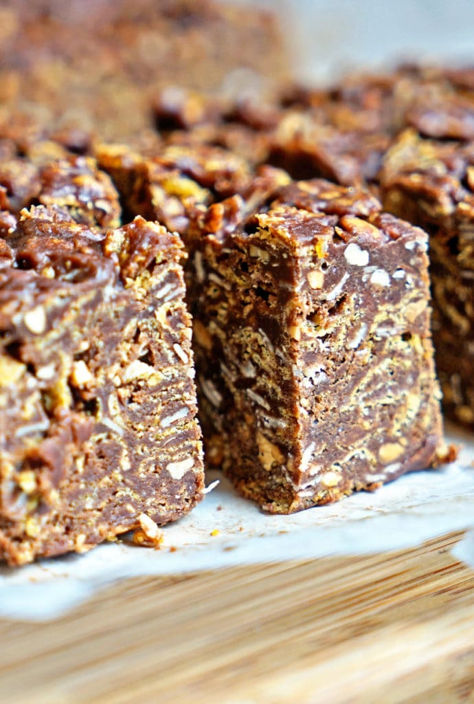 No Bake Chocolate Peanut Butter Crunch Bars7