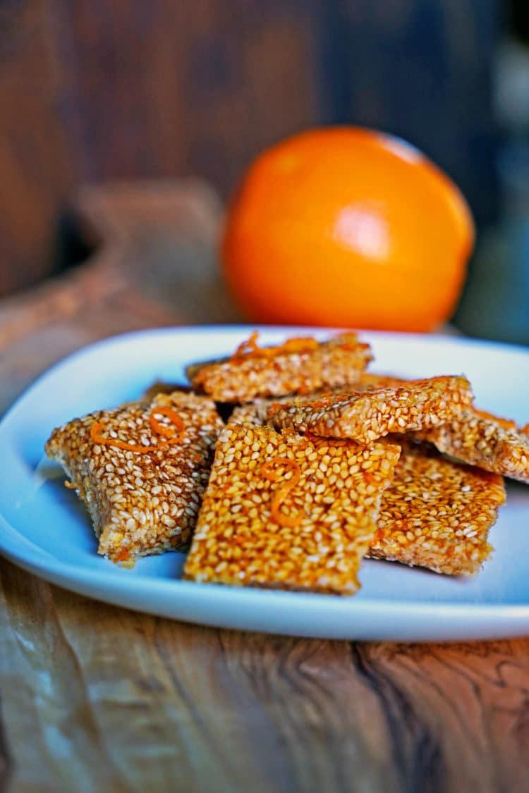 Orange Sesame Brittle (Simsemieh)1