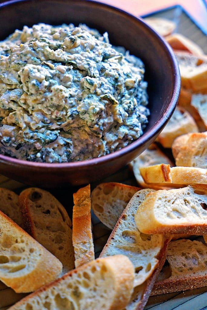 Roasted Garlic, Spinach and Artichoke Dip1