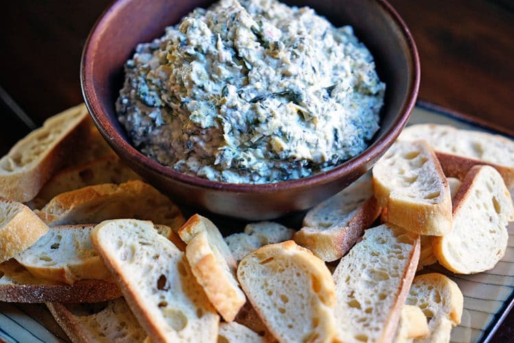 Roasted Garlic, Spinach and Artichoke Dip2