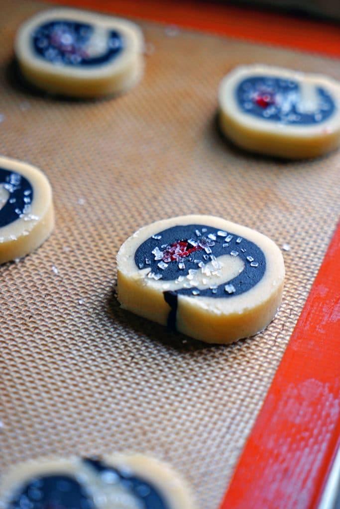 Dark Chocolate Cherry Pinwheel Shortbread Cookies8