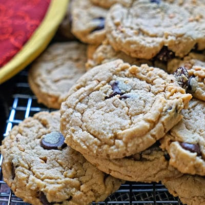 Muscovado Dark Chocolate Peanut Butter Cookies