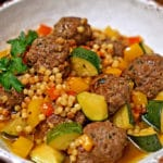 Moroccan Lamb Meatballs with Toasted Fregula