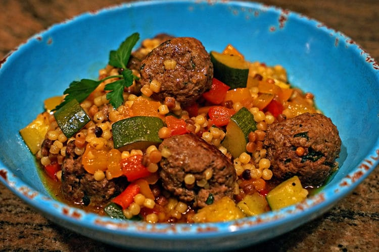 Moroccan Lamb Meatballs with Toasted Fregola2