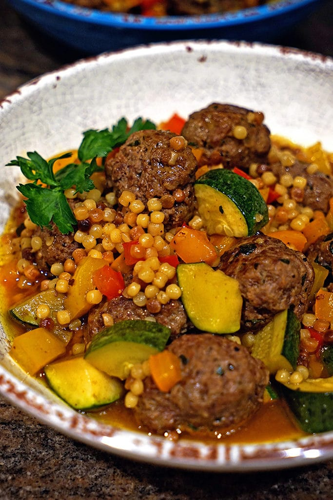 Moroccan Lamb Meatballs with Toasted Fregola6