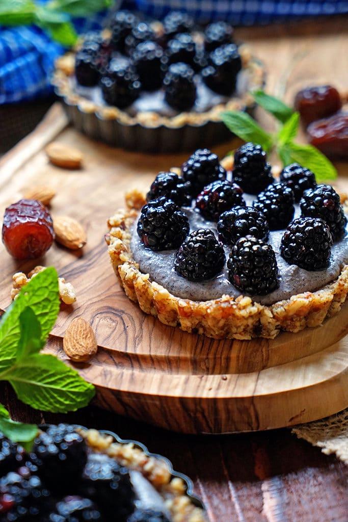 No Bake Blackberry Tarts with Cashew Cream1