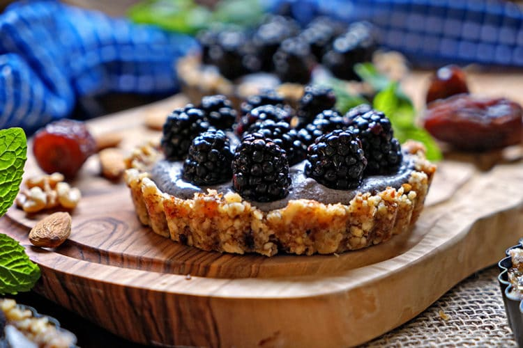 No Bake Blackberry Tarts with Cashew Cream2