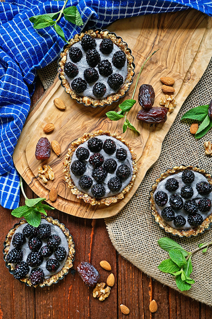 No Bake Blackberry Tarts with Cashew Cream6