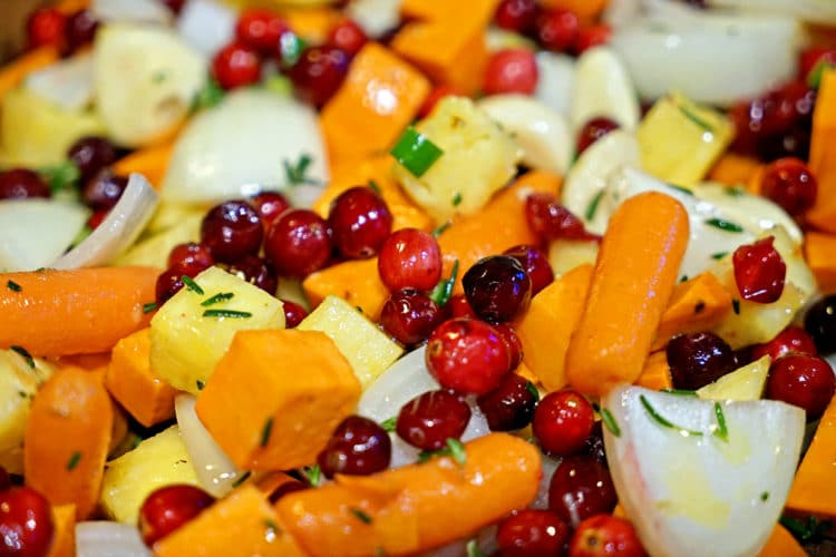 Roasted Sweet Potatoes, Cranberries and Pineapple with Serrano and Rosemary2