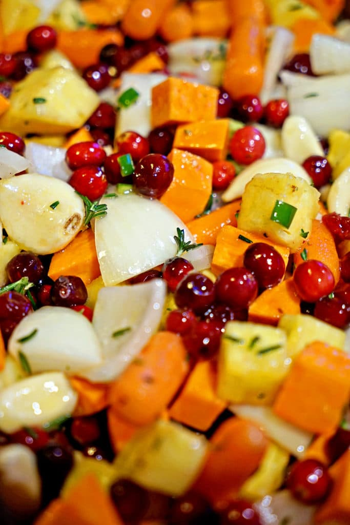 Roasted Sweet Potatoes, Cranberries and Pineapple with Serrano and Rosemary3