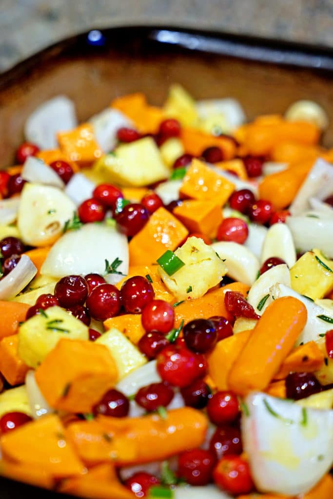 Roasted Sweet Potatoes, Cranberries and Pineapple with Serrano and Rosemary4