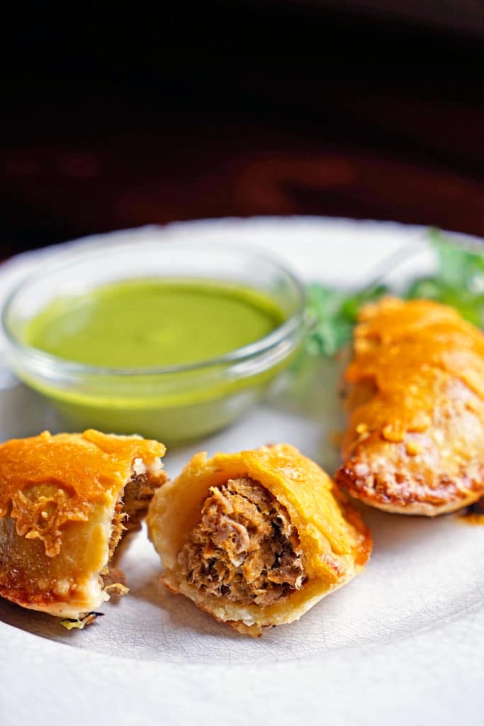 Shredded Beef Verde Empanadas with Blended Chimichurri6