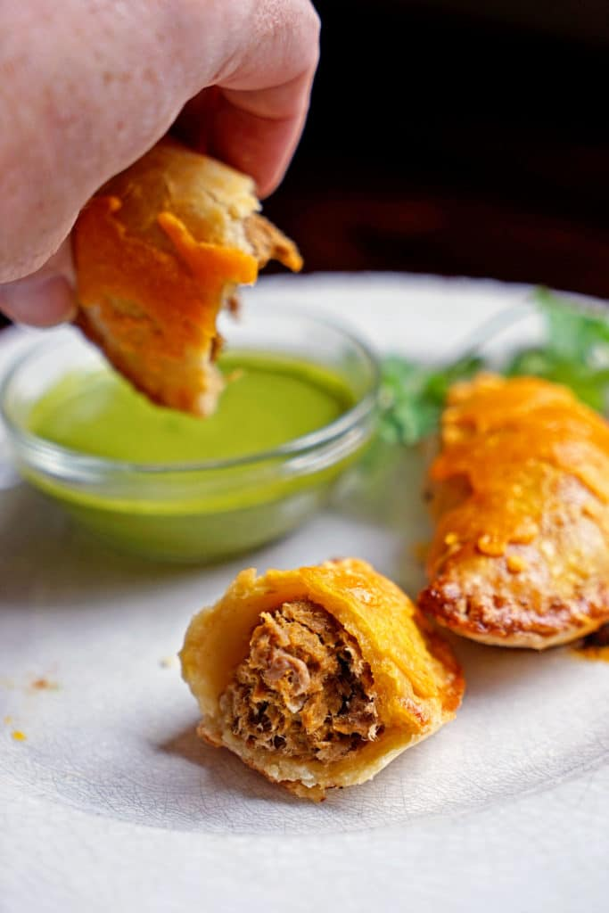 Shredded Beef Verde Empanadas with Blended Chimichurri7