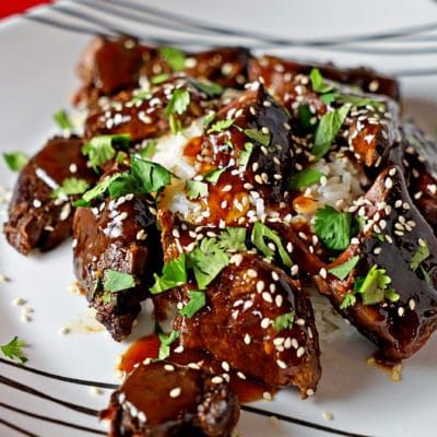 slow cooker sticky beef short ribs