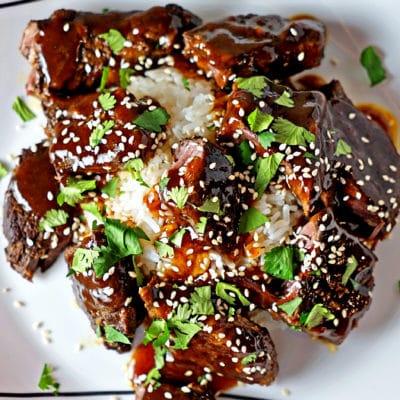 Slow Cooker Szechuan Sticky Beef Short Ribs