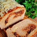 Bacon Jam and Fontina Loaded Turkey and Rice Meatloaf