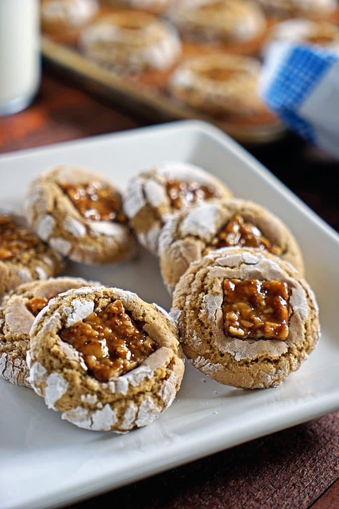 Brown Sugar Nugat Crinkle Cookies1