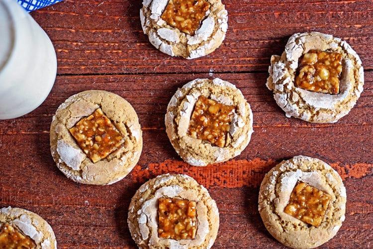 Brown Sugar Nugat Crinkle Cookies5
