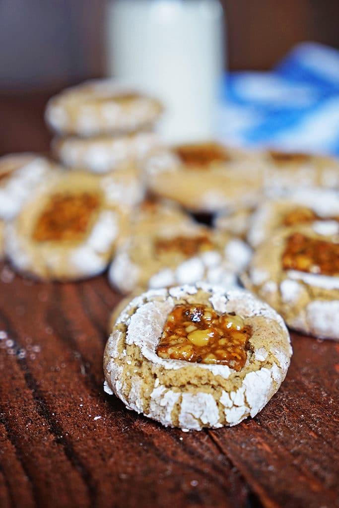 Brown Sugar Nugat Crinkle Cookies7