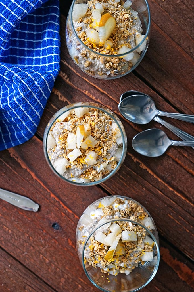 Chai Tea Chia Mousse Parfaits with Granola and Apple Pear6