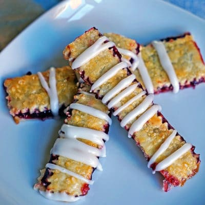 Cherry Pie Fries with Sour Cream Glaze