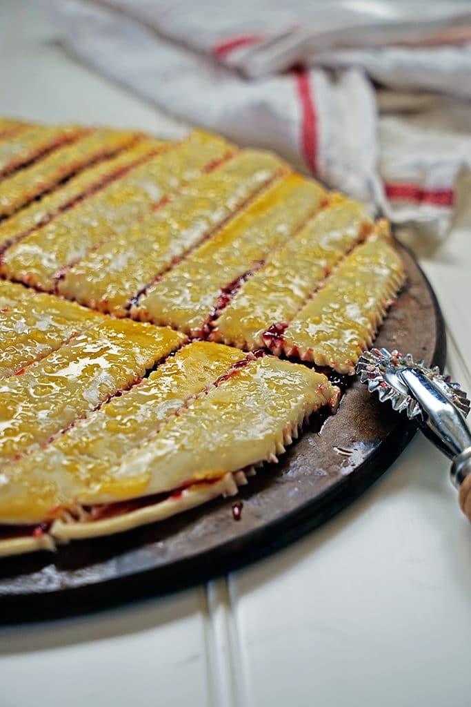 Cherry Pie Fries with Sour Cream Glaze5