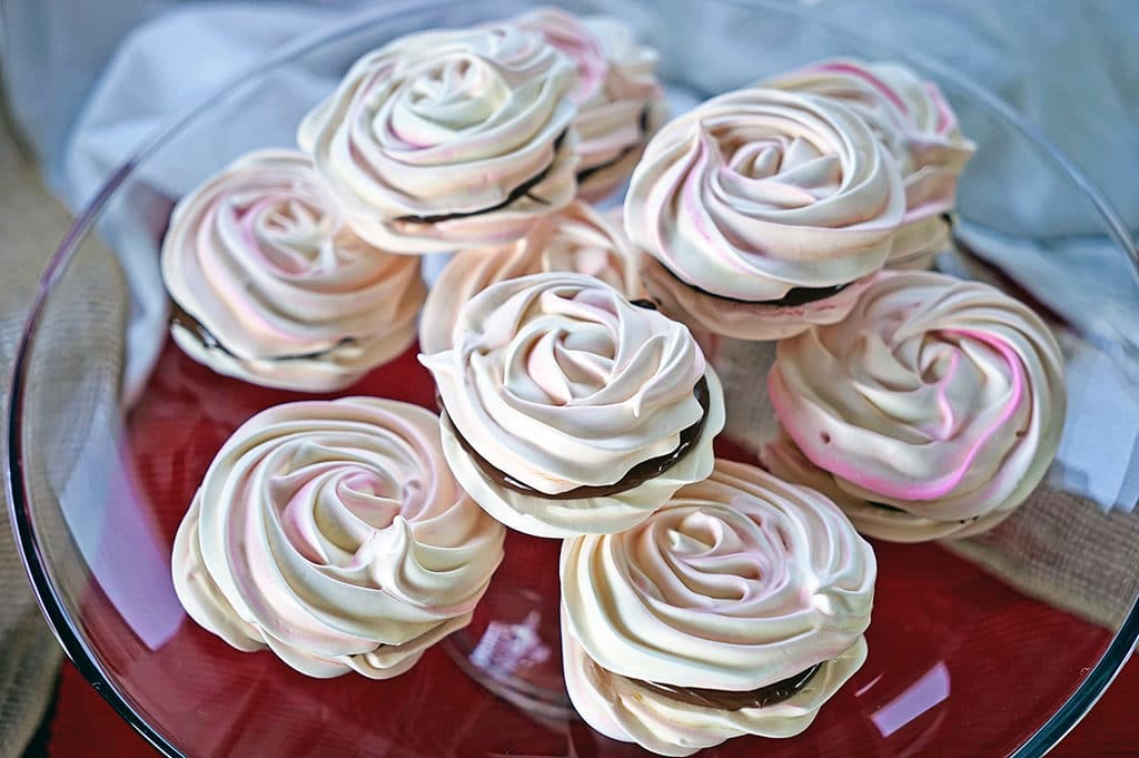 French Meringue Chocolate Sandwich Cookies2