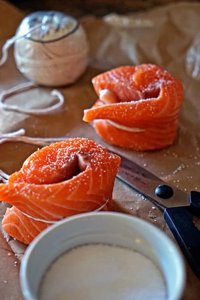 Tied Salmon Filets