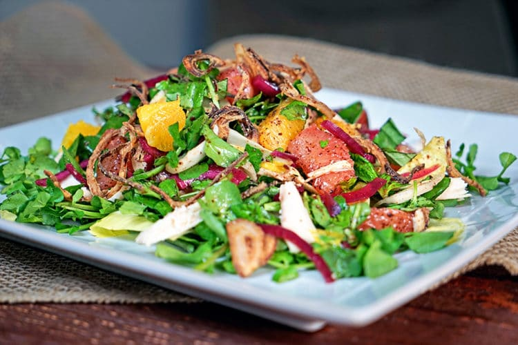 Pink-Grapefruit-and-Chicken-Watercress-Salad-with-Crispy-Shallots8