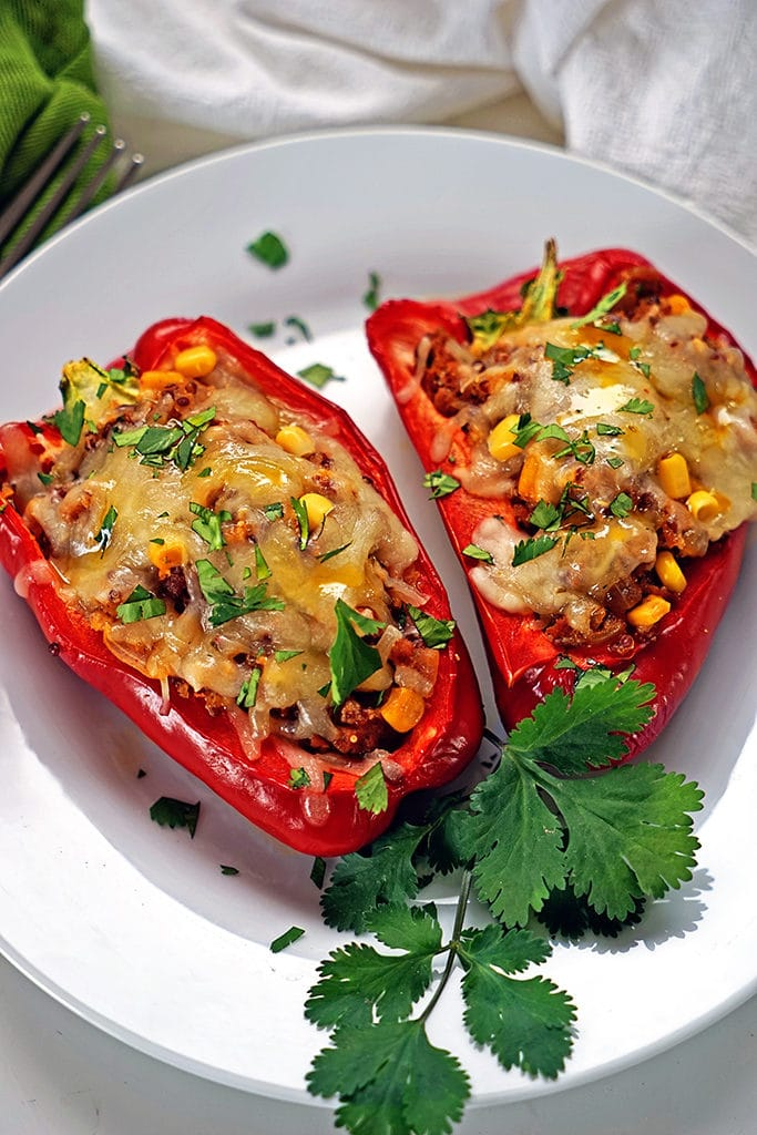 Quinoa Corn and Chorizo Stuffed Bell Peppers1