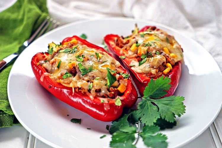 Quinoa Corn and Chorizo Stuffed Bell Peppers2