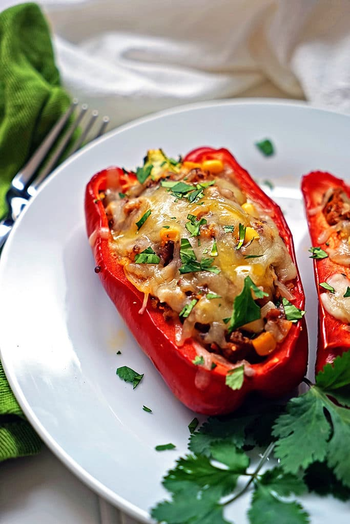 Quinoa Corn and Chorizo Stuffed Bell Peppers5