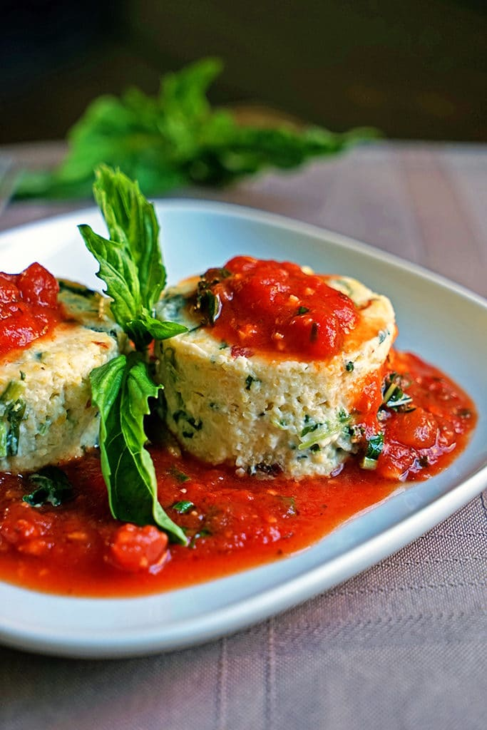 Slow Roasted Tomato and Spinach Polenta Cakes6