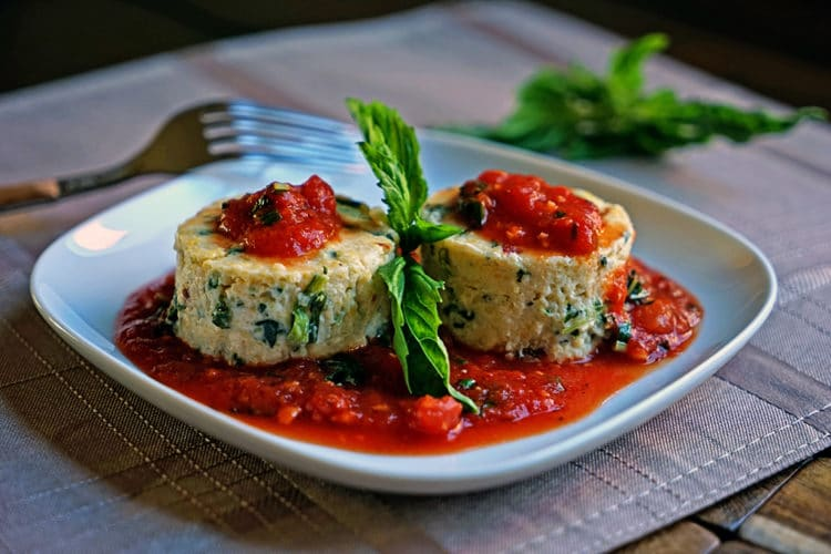 Slow Roasted Tomato and Spinach Polenta Cakes7