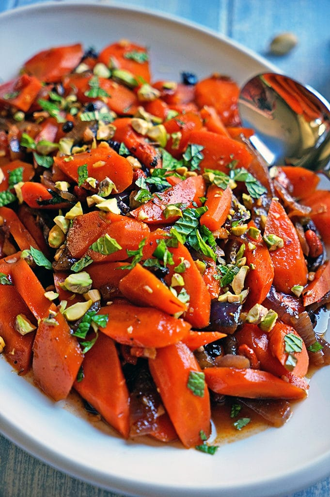 Spicy Uzbeki Carrots with Currants, Goji Berries and Pistachios1