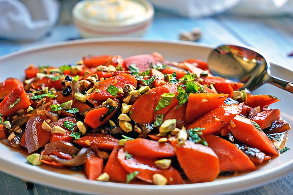 Spicy Uzbeki Carrots with Currants, Goji Berries and Pistachios2