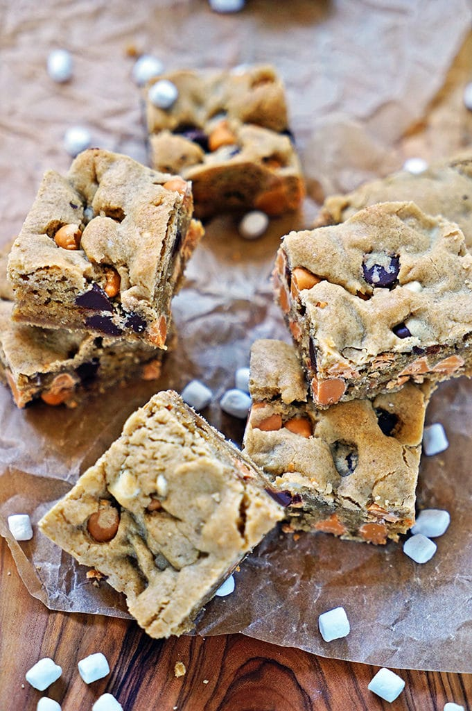 Marshmallow Butterscotch Blondies1