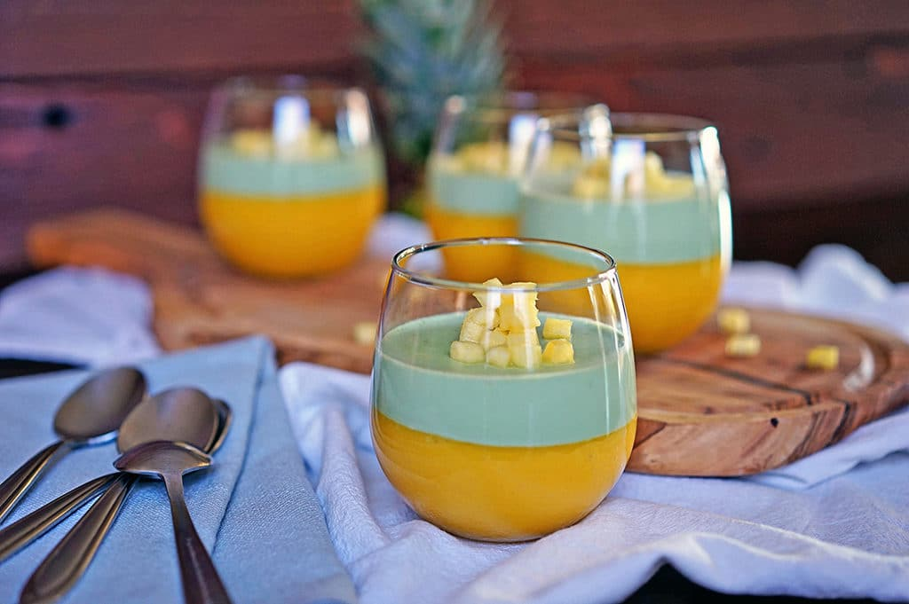 Tropical Mango Matcha Panna Cotta 2