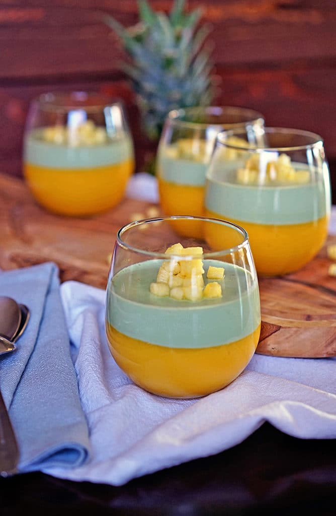 Tropical Mango Matcha Panna Cotta 5