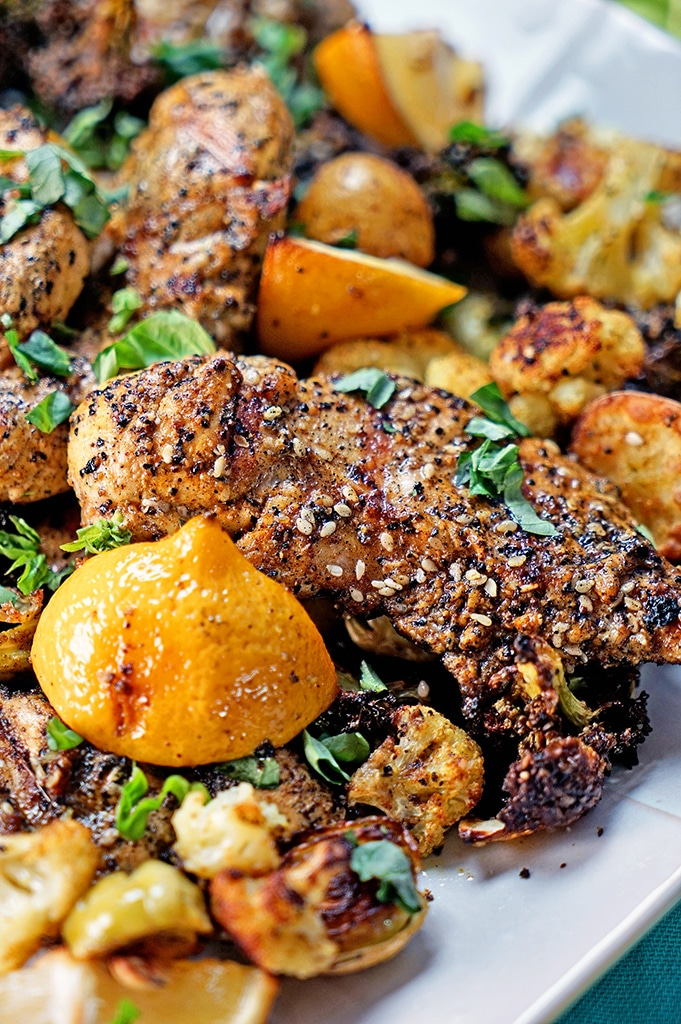 Turkish Grilled Chicken And Roasted Vegetables Kevin Is Cooking
