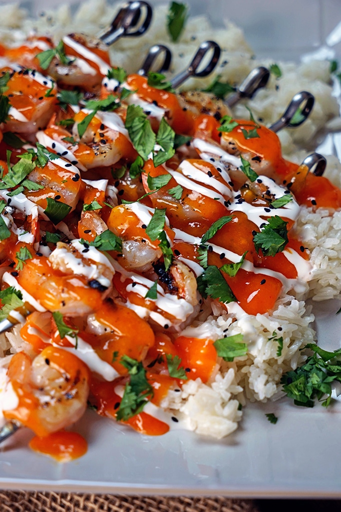 Grilled Mango Sriracha Shrimp1