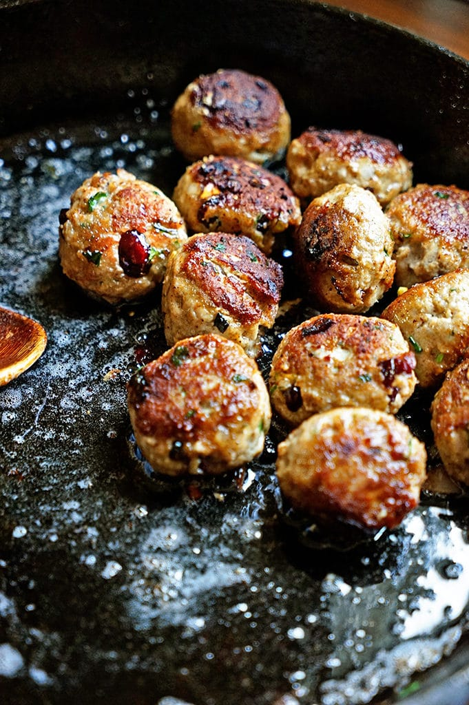 Persian Meatballs with Dried Cherries and Pistachios - Keviniscooking.com