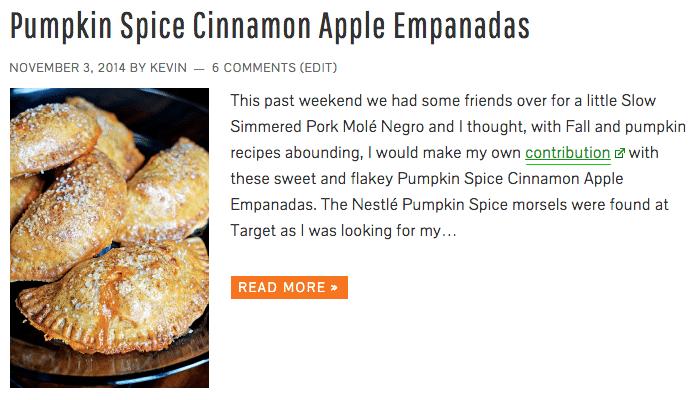 Pumpkin Spice Cinnamon Apple Empanadas - Keviniscooking.com