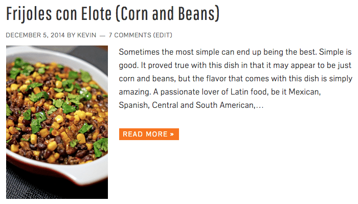 Frijoles con Elote (Corn and Beans) - Keviniscooking.com