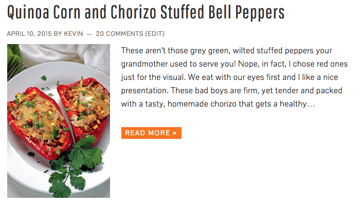 Quinoa Corn and Chorizo Stuffed Bell Peppers - Keviniscooking.com